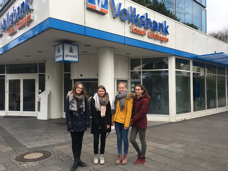 Besuch in der Volksbank Göttingen-Kassel