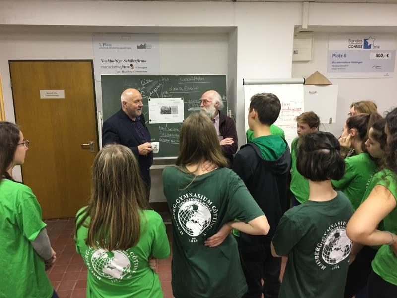 Besuch der Landesfachberater zu Nachhaltigen Schülergenossenschaften eSG