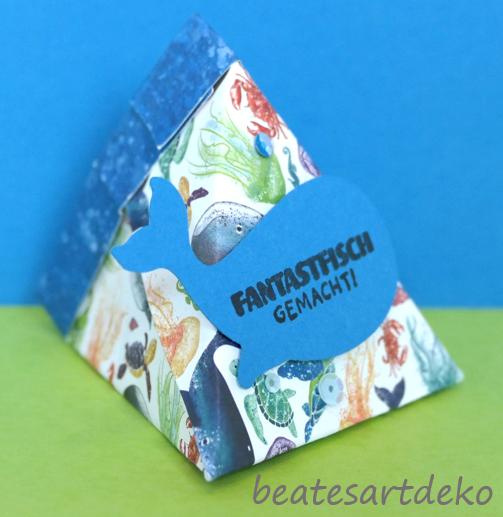 Projekt 2: Selbstschließende 3-Eckbox/Goodie/Mitbringsel/Verpackung - Box 2