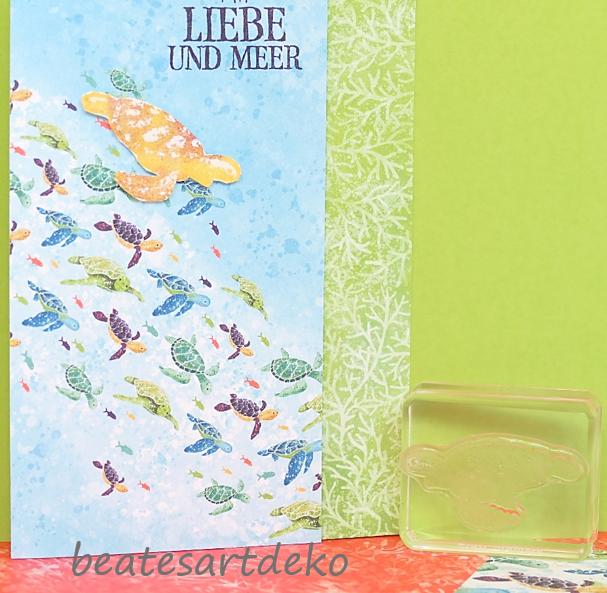 beatesartdeko | Fortsetzung von der Produktreihe Meereswelt | Projekt 1 | Karte 1 | Einfache Faltkarte