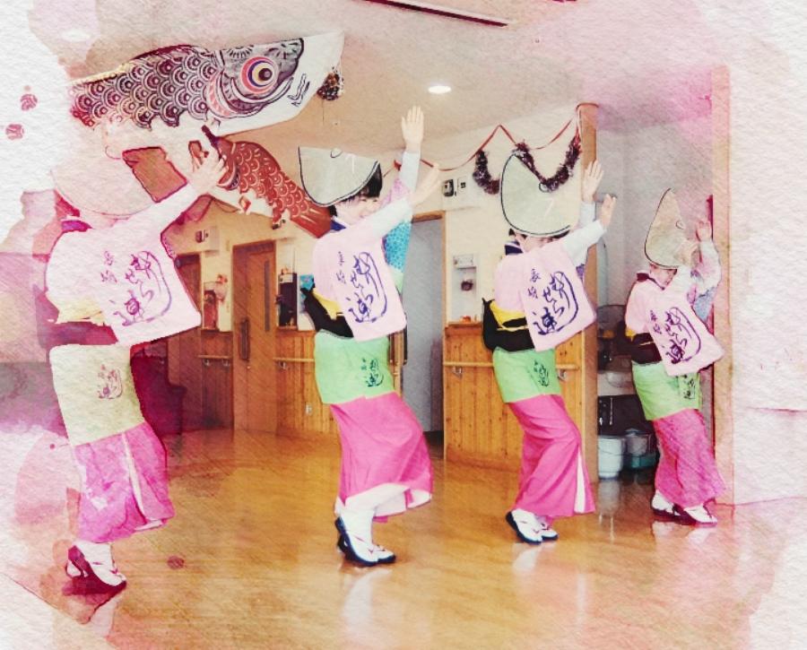 阿波踊り体験講座の様子