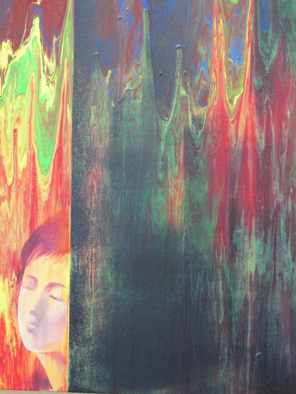 Die Träumerin 50 x 50 cm