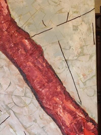 Der rote Fluß 70 x 100 cm