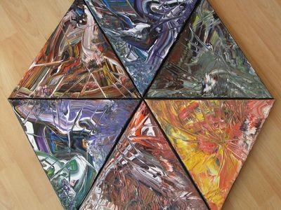 Im Dreieck 6x 30 x30 cm