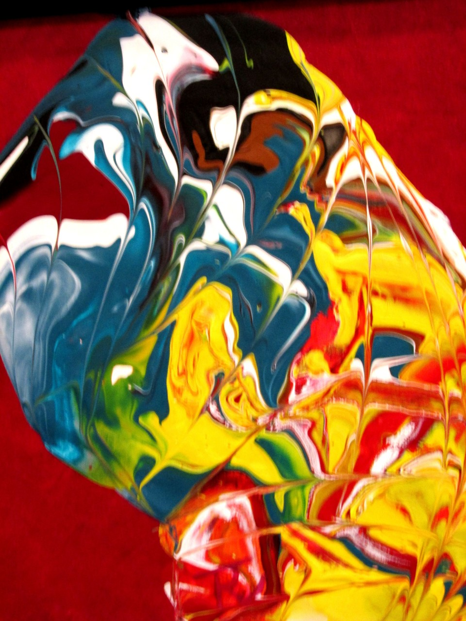 Abstraktes Bild XVI 27 x 27 cm