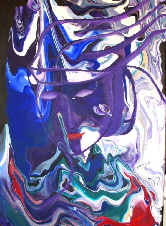 Lila Träume 40 x 60 cm