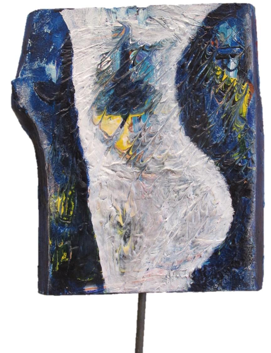 Blau Weiss Baumscheibe 86 x 25 cm