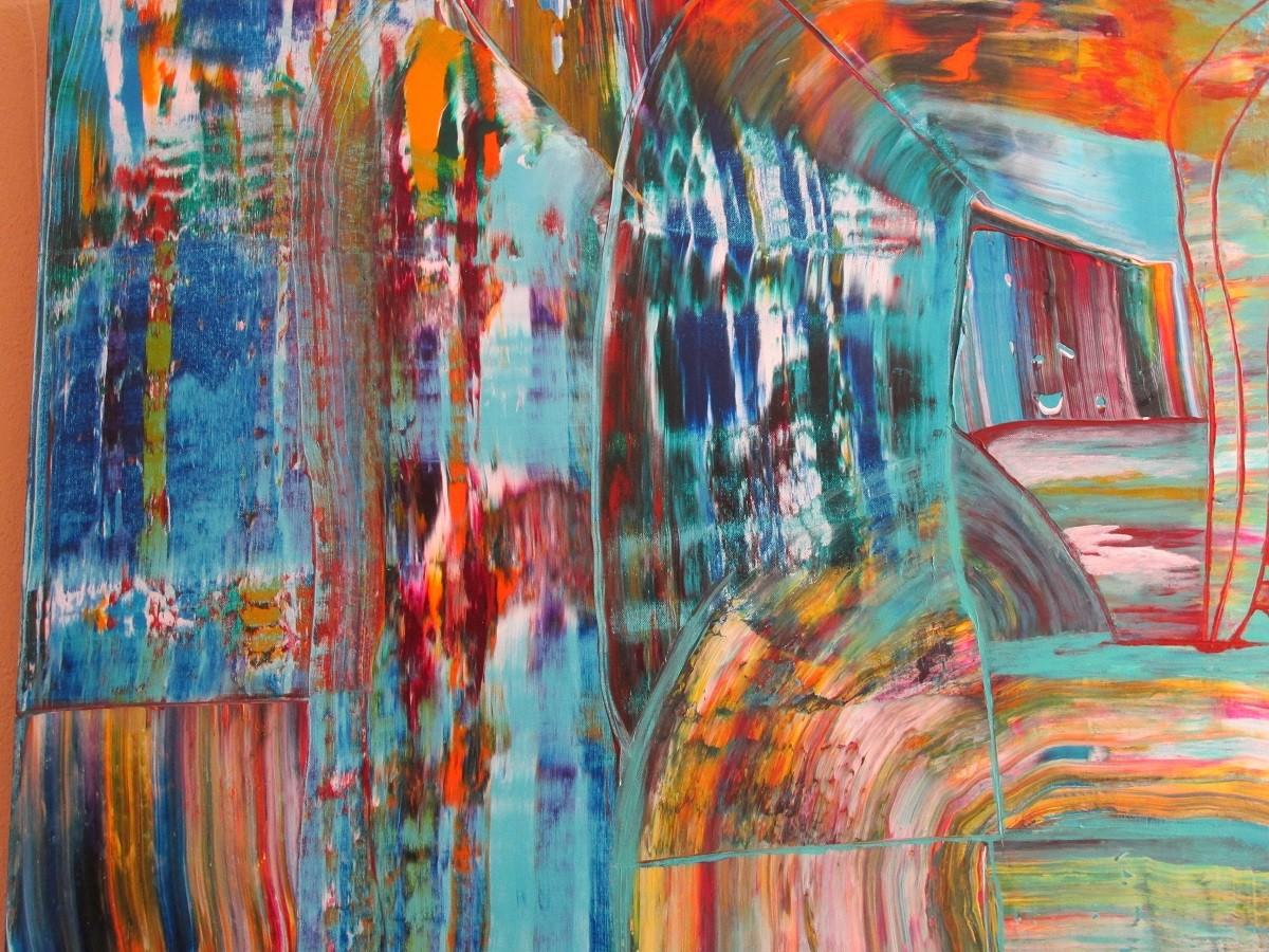 Abstraktes Bild X 100 x 100 cm
