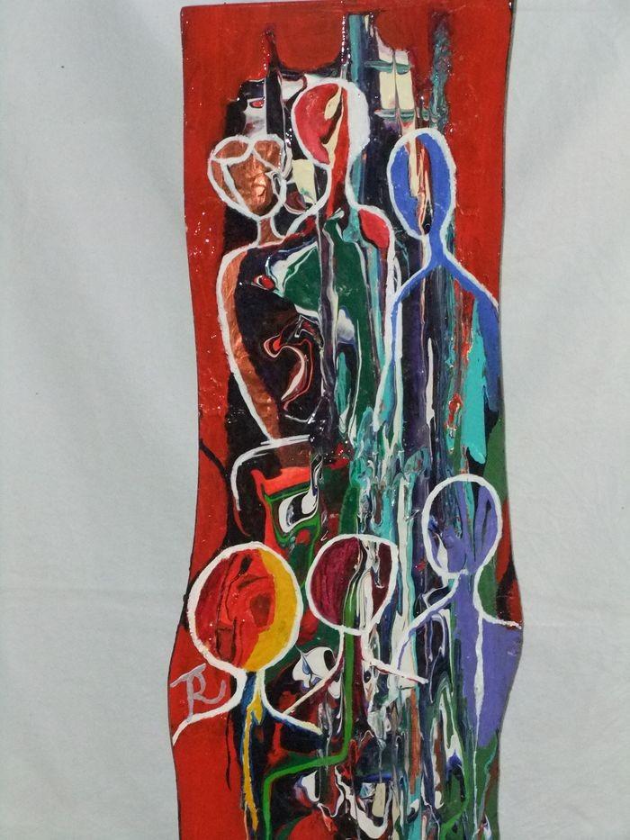 Freundinnen auf Kirschholz 110 x 35 cm