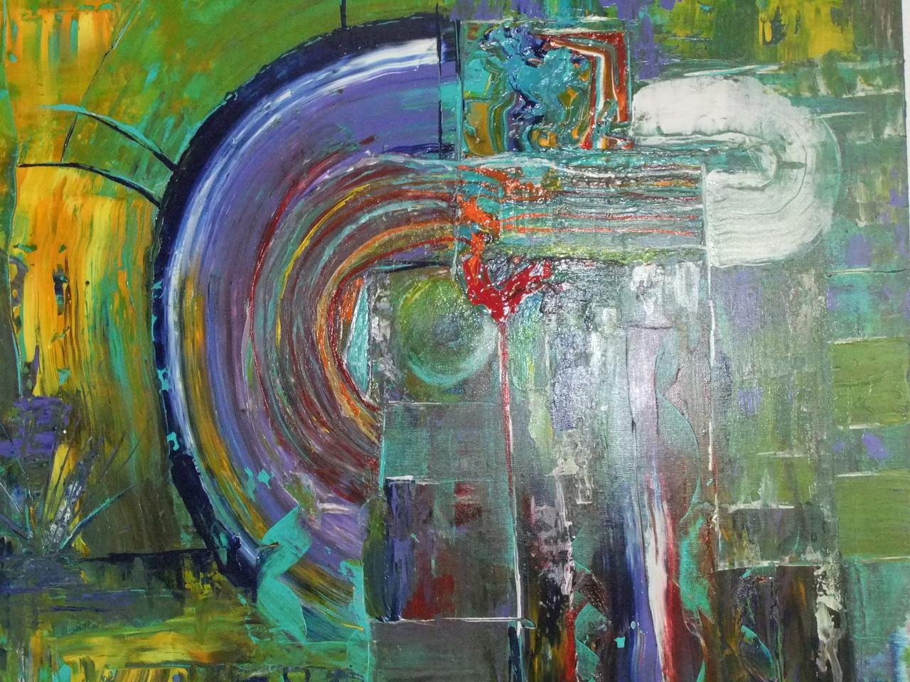 Abstraktes Bild V 150 x 80 cm