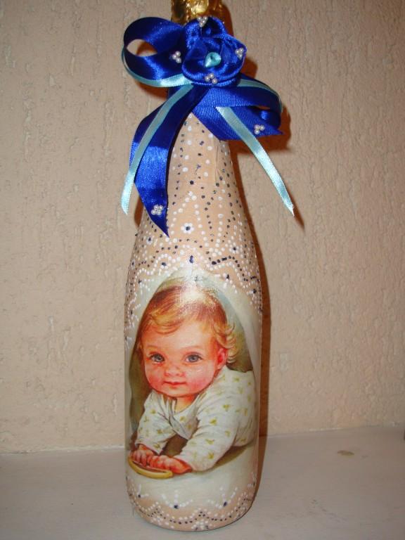 "бутылка шампанского ""Младенец"""