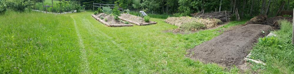 Neue Natürliche Hügelbeet Umrandung