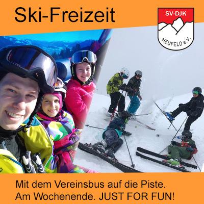 Skifahren für Kinder am Wochenende mit dem Skiteam des SV DJK Heufeld aus Bruckmühl.