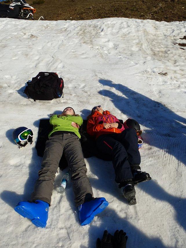 Vereinsmeisterschaft SV DJK Heufeld Skiteam - Relaxen vor dem Rennen
