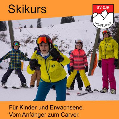Skikurs für Anfaenger, fortgeschrittene Kinder und Erwachsene beim SV DJK Heufeld  in Bruckmuehl.