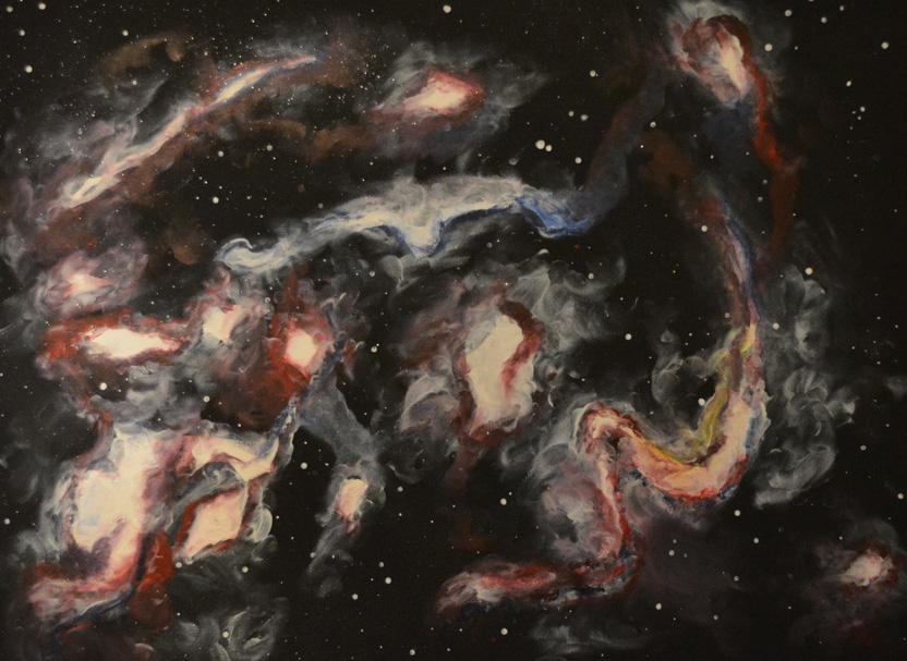 Verschlungene Galaxie