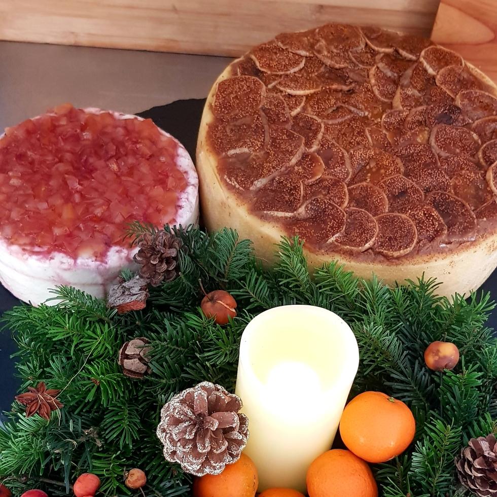 🎄Zur Adventszeit: Feigen in Pomeranzensenf auf aromatischem Kuhkäse oder Himbeerzitronen auf Ziegenbutterkäse 🧀🧀 😋