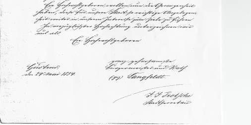 24. Mai 1854, Bitte um Anschluss der Stadt Güstrow an die Telegrafenverbindung