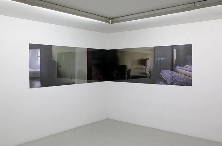 das Schloss, C-Print hinter Glas, 2 x 231 cm x 87cm, Galerie Hafemann, Wiesbaden, 2016