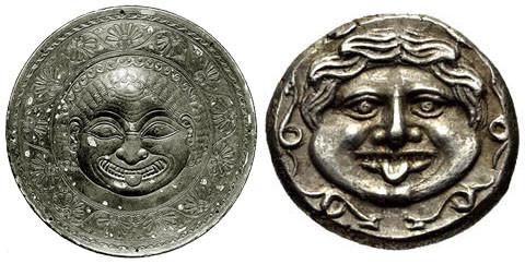 Rilievo circolare in argento. Londra, British Museum / Asia Minore, Mysia, Parion, AR Emidracma