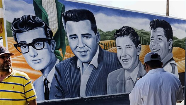 Buddy Holly, J.P. Richardson, Roger Peterson, Ritchie Valens