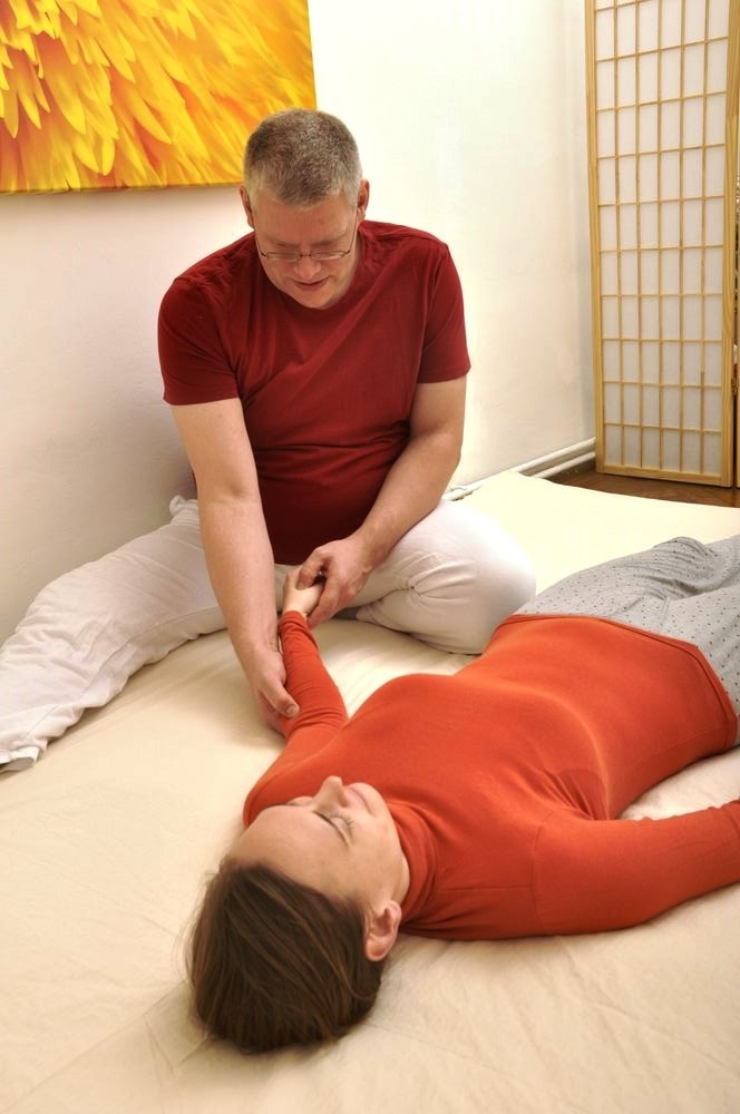 Shiiatsu Sitzung Arm Behandlung