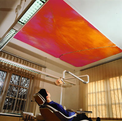 Sonnenaufgang- Ölfarbe auf Holz 200 x 135 -