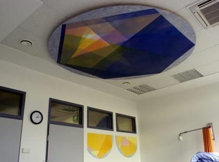 Deckenobjekt o.T. im Aufwachraum der Praxis GGS für ambulante OP - Durchmesser 2,00 m
