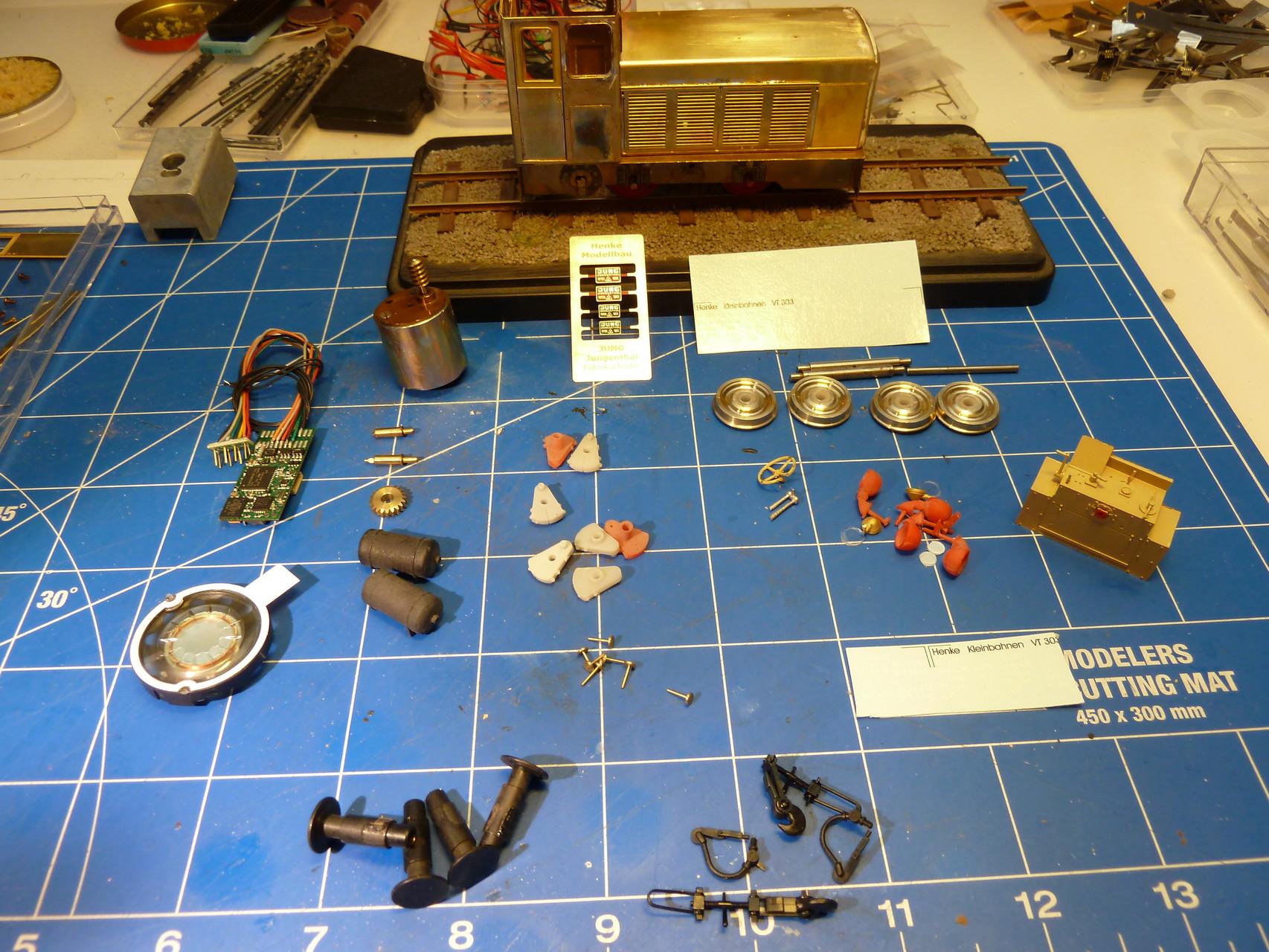 Die Teile von Henke Modellbau