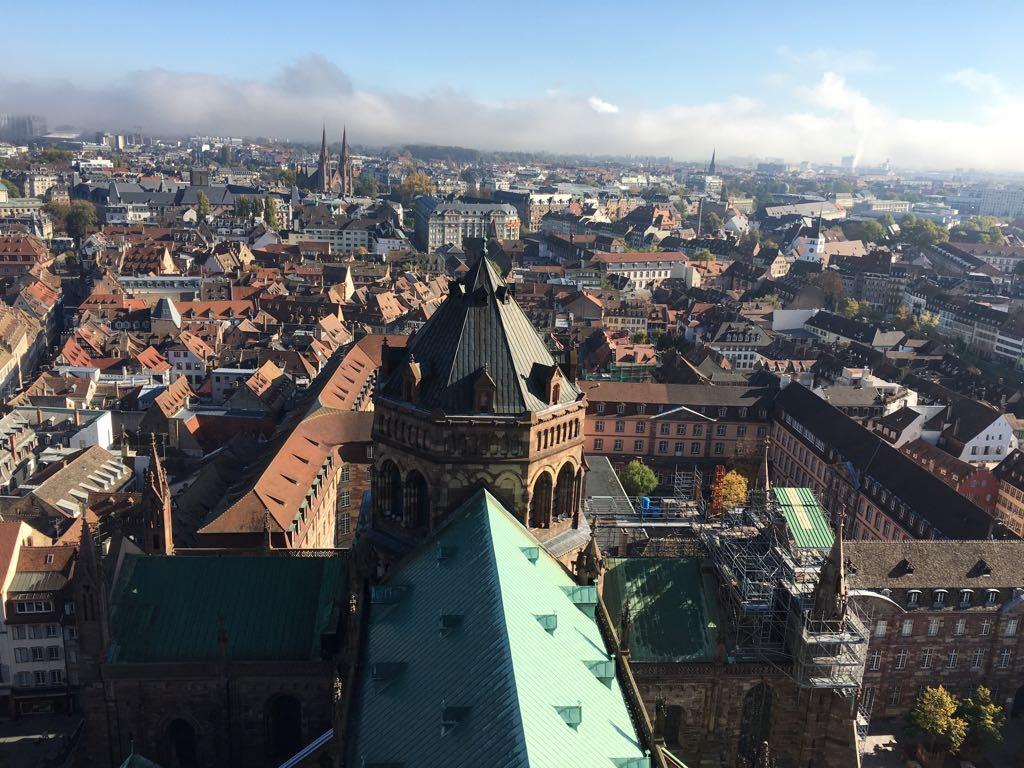 Aussicht vom Straßburger Münster