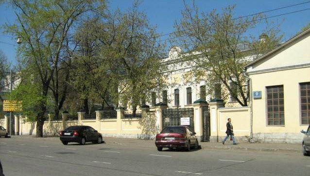 Усадьба Зубовых на Б. Коммунистической, 9. В строении, на котором виден номер 9, в 1930-1948гг. располагалась студия И.Н. Жукова.