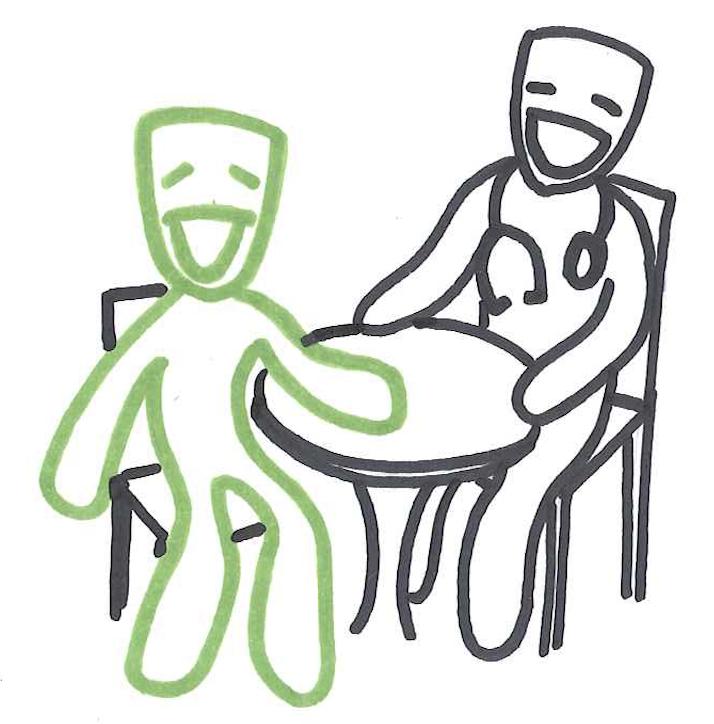 Eine Sprechstunde mit dem Mediziner