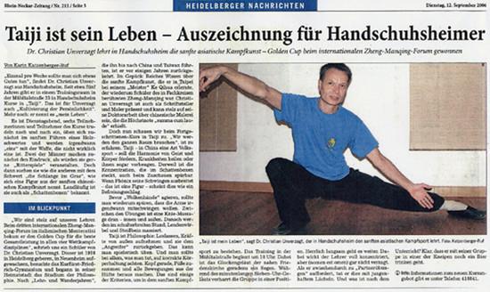 aus: Rhein-Neckar-Zeitung, 12. September 2006