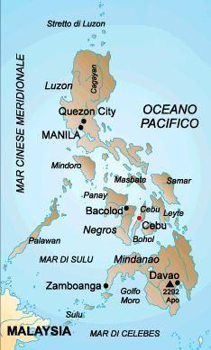 1°) Arcipelago delle Filippine.