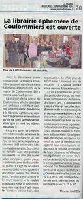 Ouverture de la Librairie Ephémère Coulommiers