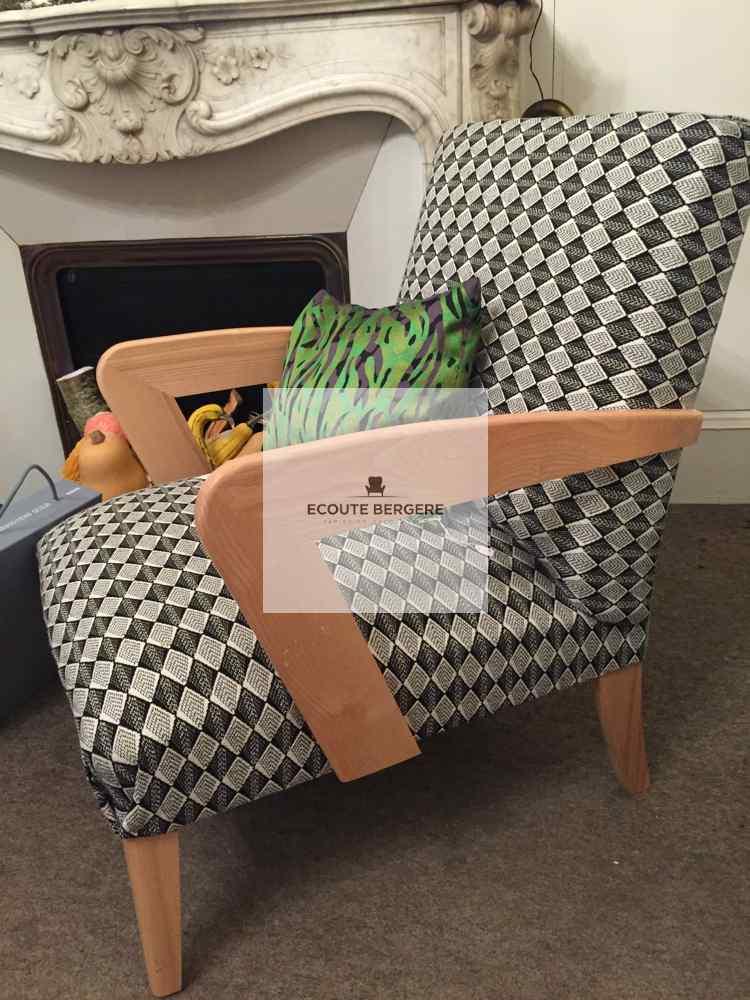 Le fauteuil bio signé Juliette Klein s'habille de tissus des couturiers. Choisissez vos couleurs made in France