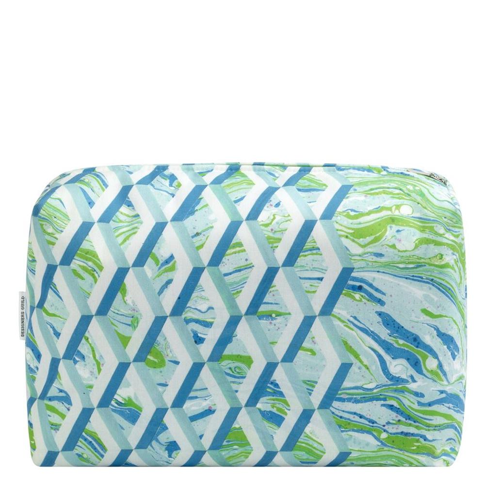 Pochette ambiance marine Designers Guild zip