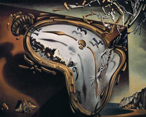 image du tableau de Dali: les montres molles