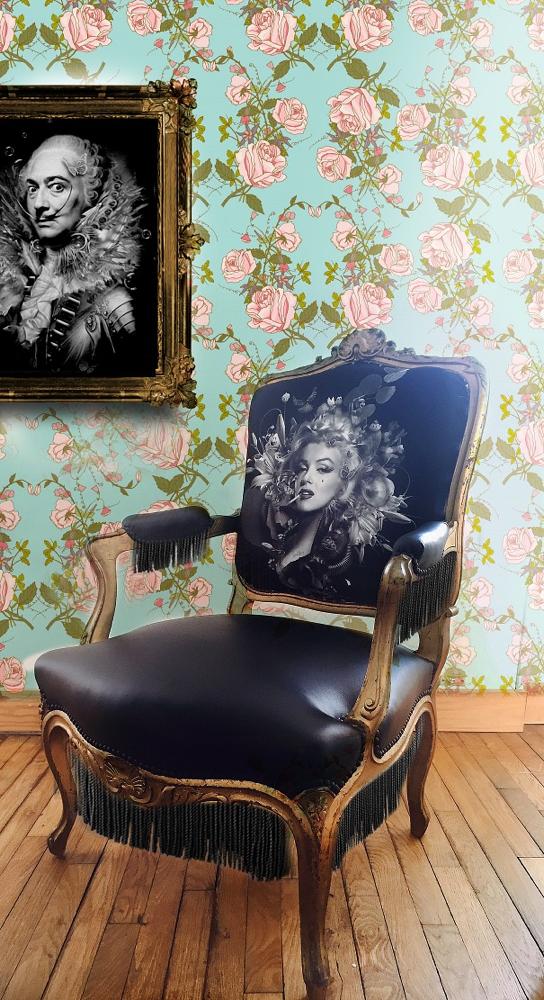 Un fauteuil original signé Nicolas Obery pour l'illustration et Ecoute Bergère pour la mise en œuvre du siège