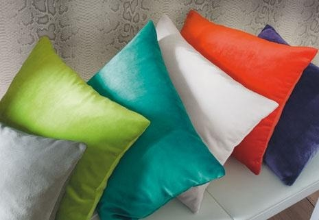 Coussins velours multicolores
