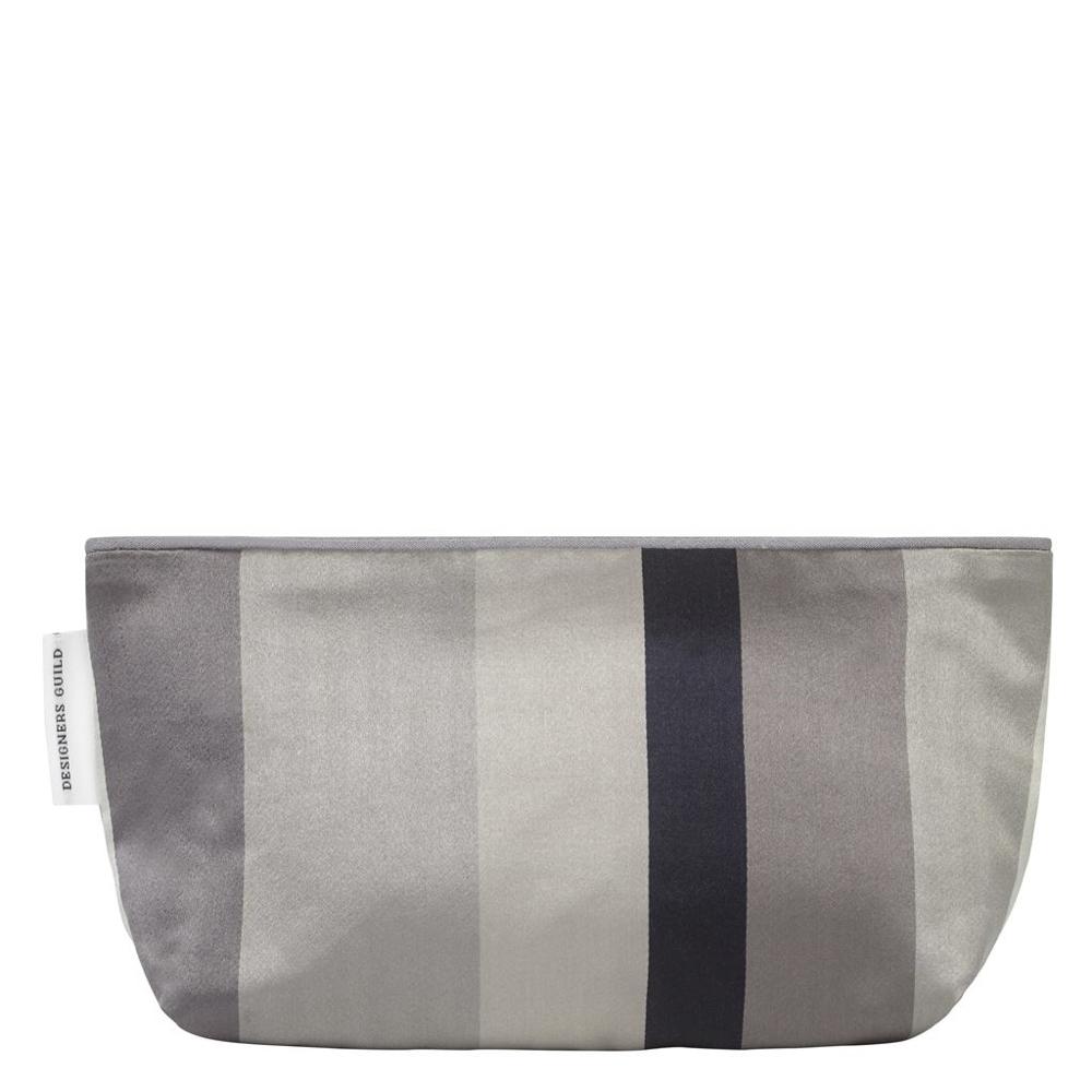 Pochette Designers Guild pour la salle de bain rayures gris, noir, blanc