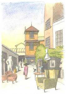 image de l'événement des 70 ans des Puces, marché Paul Bert Serpette en pastel