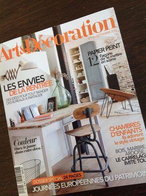 Art et Décoration présente les Journées du Patrimoine 09/16
