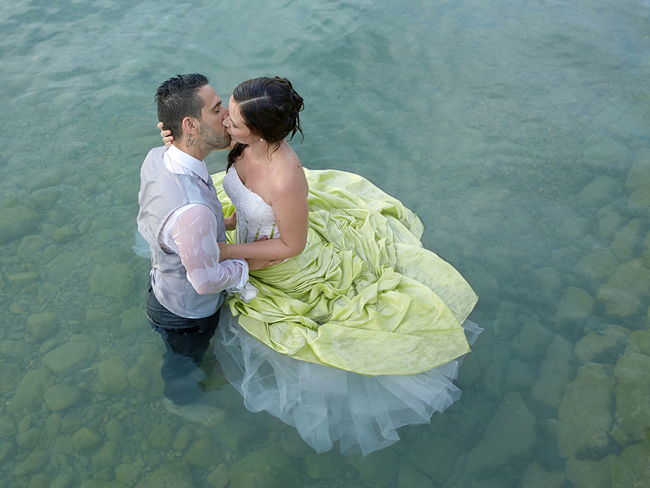 Mariage Couple lac d'Annecy