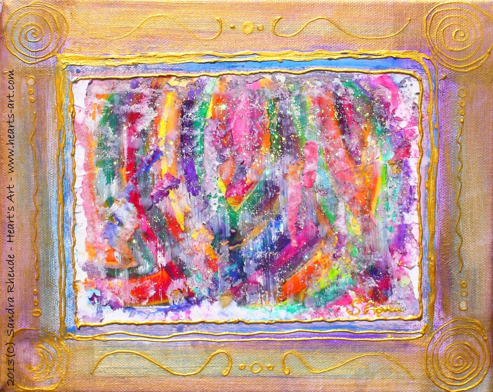 'A Look inside' - 2013/67 - Acryl/MixedMedia auf Leinwand - 30 x 24 cm - € 130