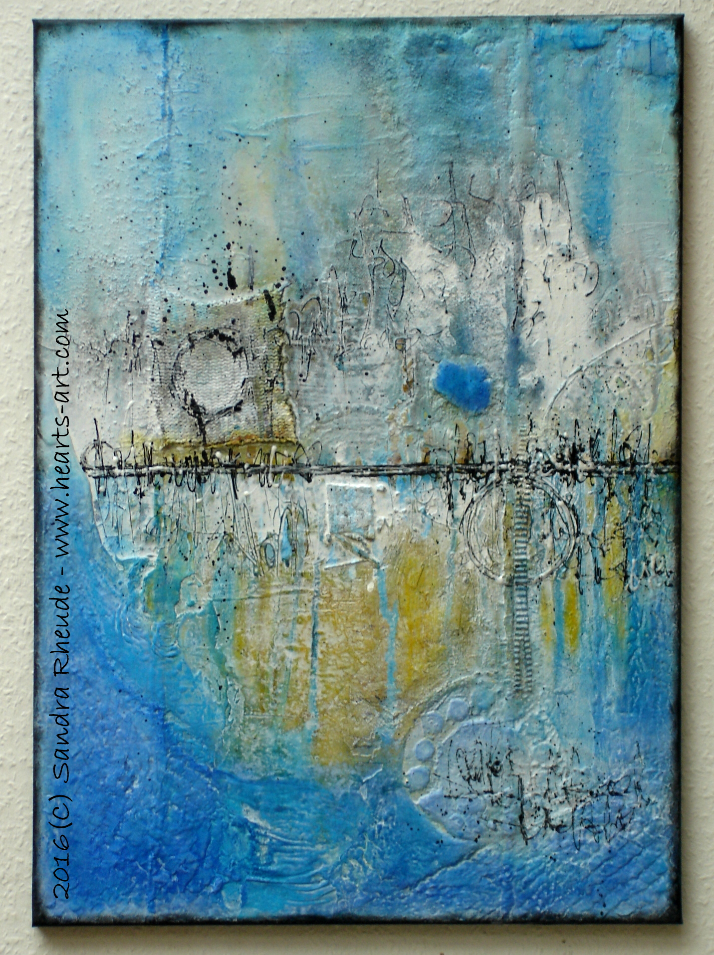 'Early Morning at the Beach' - 2016/34 - Acryl/MixedMedia auf Leinwand - 50 x 70 cm - € 290