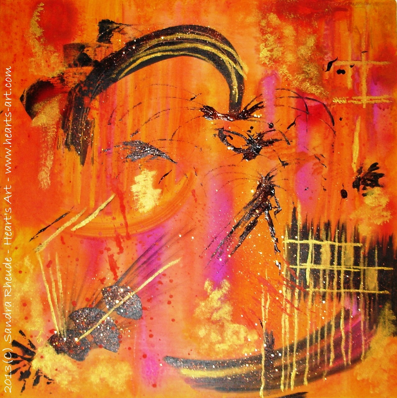 'Masquerade' - 2013/3 - Acryl auf Leinwand - 50 x 50 cm - € 220