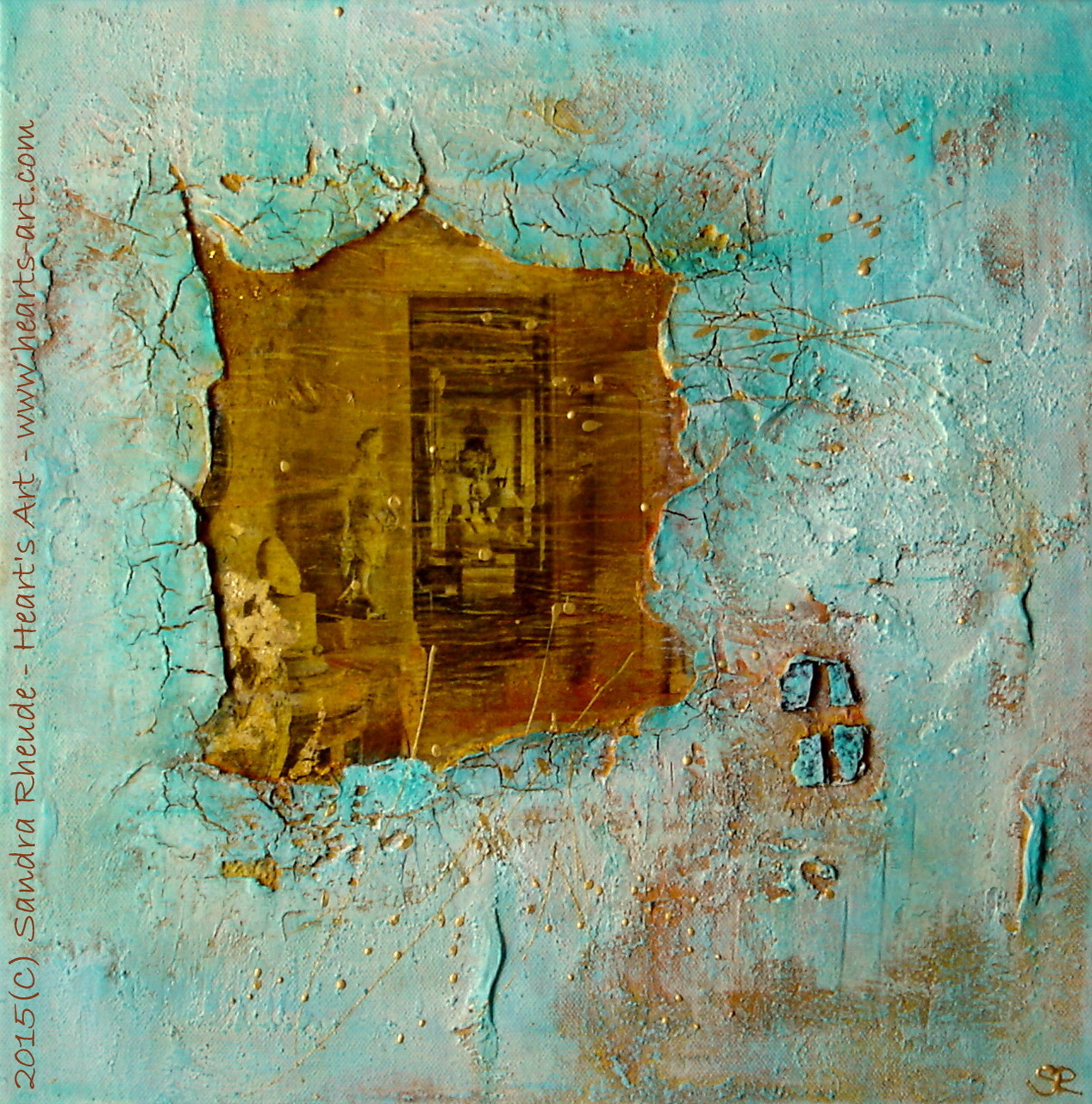 'Memories' - 2015/11 - Acryl/MixedMedia auf Leinwand - 40 x 40 cm - € 190