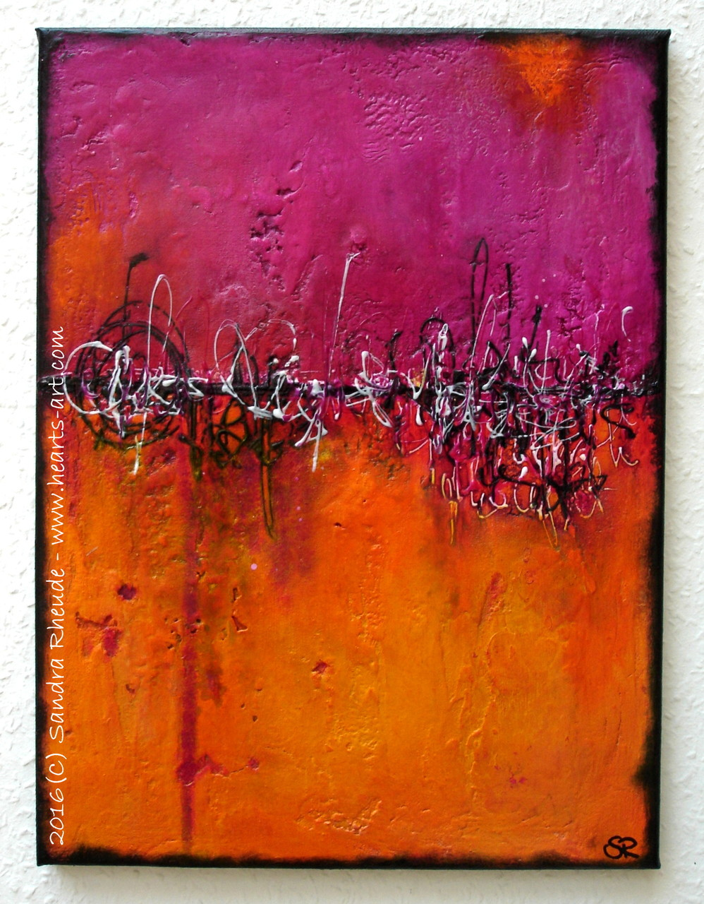 'Taste of Life' -  2016/21 - Acryl/MixedMedia auf Leinwand - 30 x 40 cm - € 220