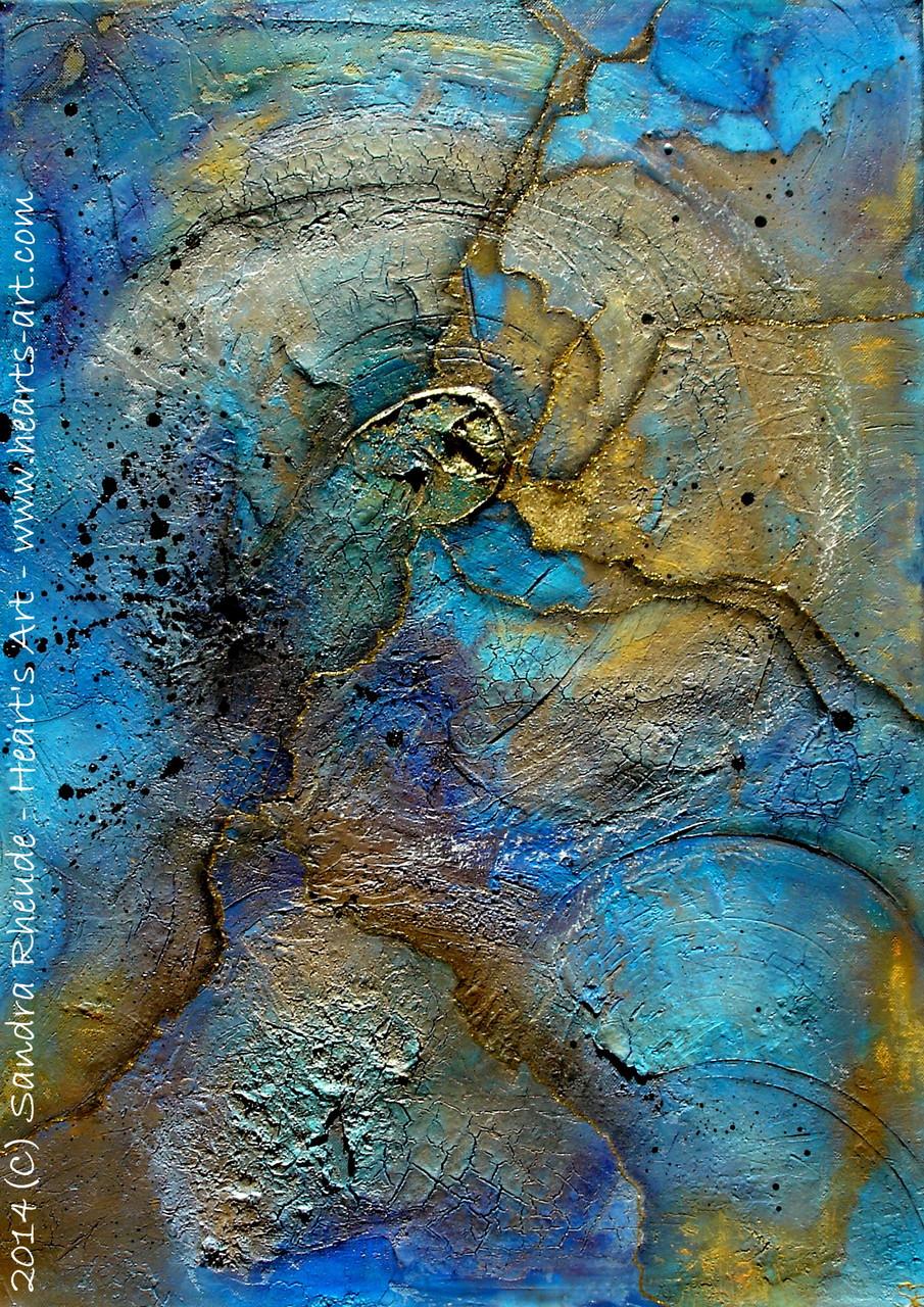 'Zeitrisse' - 2014/49 - Acryl/MixedMedia auf Leinwand - 50 x 70 cm - € 330